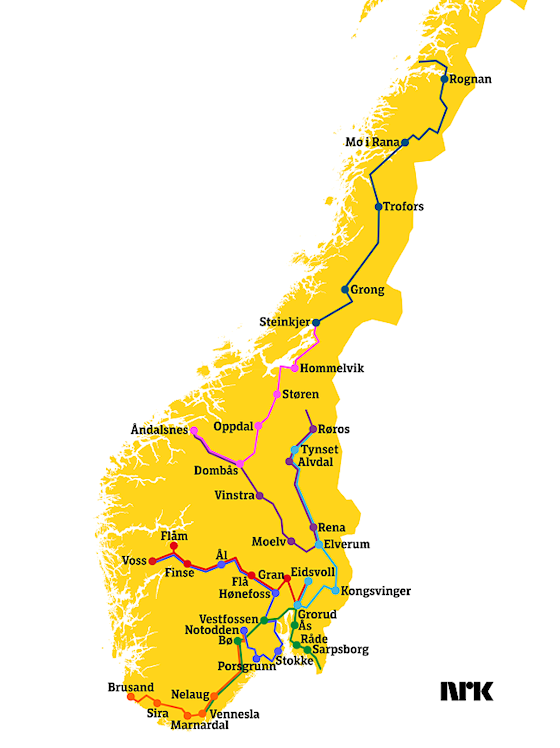 sommertoget route 2017
